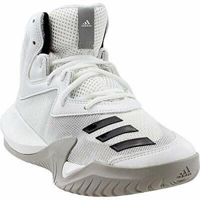 Adidas Crazy Team Basketball Mens Shoe US 8 White/Black/Grey Hi Top NWT