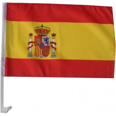 2 x Autofahne / Autoflagge Spanien