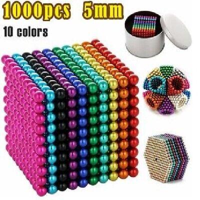 Magnetic Fidget Balls - 5mm - 1000 Pcs - Multi Colored - 10 Colors
