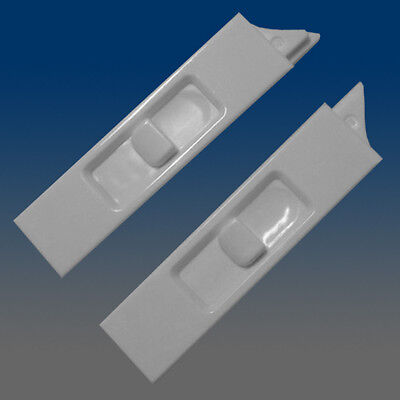Set of 2 White Recessed Window Sash Tilt Latches 1-left & 1-right 7380RB