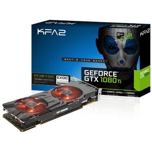 11GB KFA2 GeForce GTX 1080 Ti EXOC Aktiv PCIe 3.0 x16 (Retail)