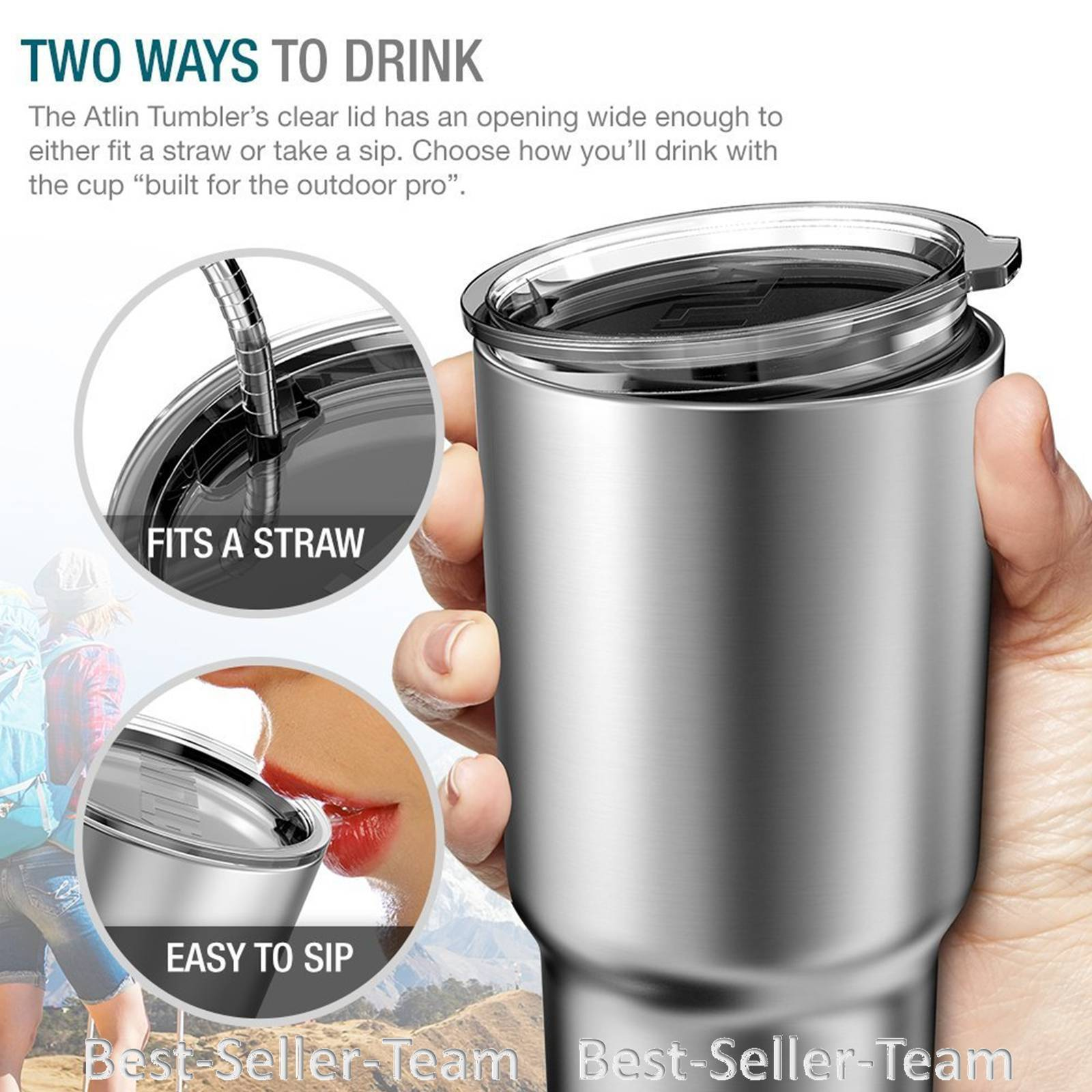 Coffee Travel Mug Thermos Stainless Steel Insulated 30 oz