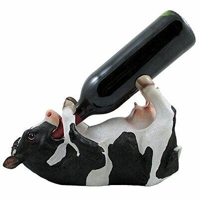 Drinking Cow Wine Bottle Holder Statue in Country Farm Kitchen Bar Decor Wine...