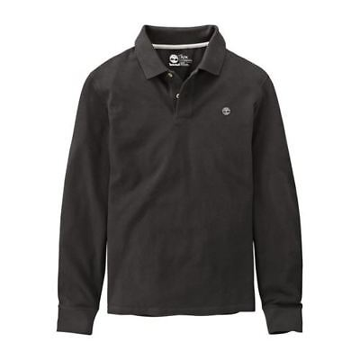 Timberland Earthkeepers Long Sleeve Mens Cotton Polo Shirt A1C86 001 EE98