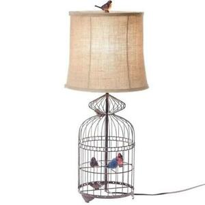 Bird lamp ebay bird cage lamps mozeypictures Choice Image