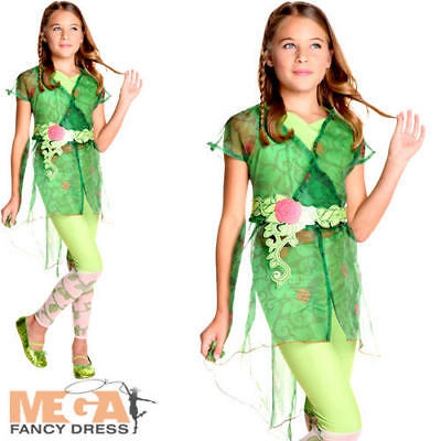 Deluxe Poison Ivy Girls Fancy Dress Superhero Villian Kids Halloween Costume