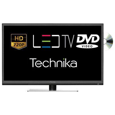 "Technika 24F22B-HD/DVD 24"" Slim LED TV DVD Combi HD Ready 720p Freeview HDMI"