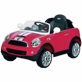 Brand new mini cooper fuscia pink and white