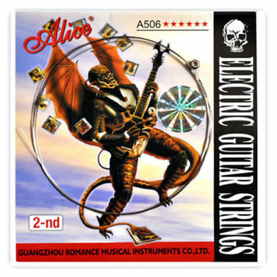 Alice A506 Stainless Steel Super Light .011 inch 2nd Electric Guitar Strings # segunda mano  Embacar hacia Spain