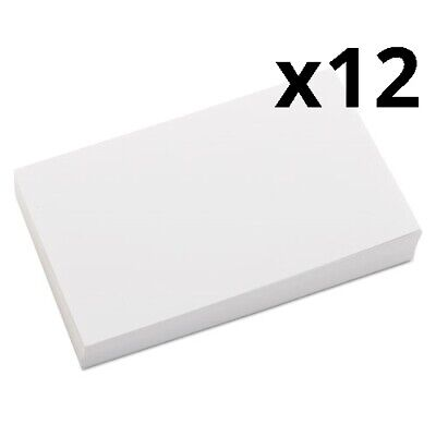 Unruled Index Cards 3 X 5 White 100pack Pack Of 12