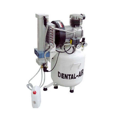 Silentaire Da-2-50-379 Dental Air Compressor With Dryer And Cabinet