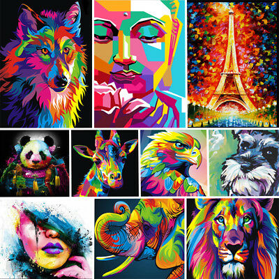 Unframed Canvas Animals Art Oil Painting Picture Home Wall Printing Poster Decor