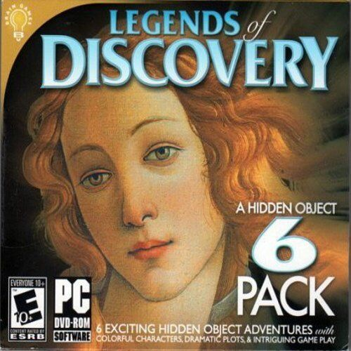 Computer Games - Legends Of Discovery 6 Pack PC Games Window 10 8 7 XP Computer hidden object NEW