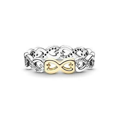 Pandora 925 14k  #190948cz Infinite Love stackable ring band multiple sizes  NEW