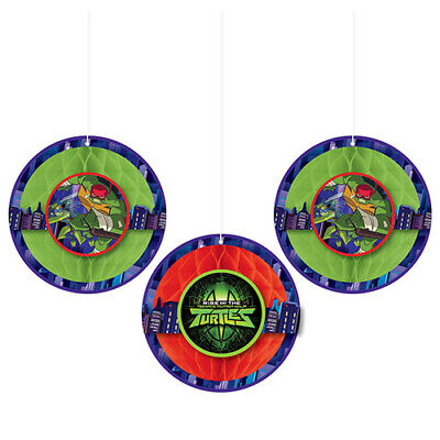 RISE of the TEENAGE MUTANT NINJA TURTLES HONEYCOMB DECORATIONS ~ Birthday Party - Ninja Turtles Party Decorations