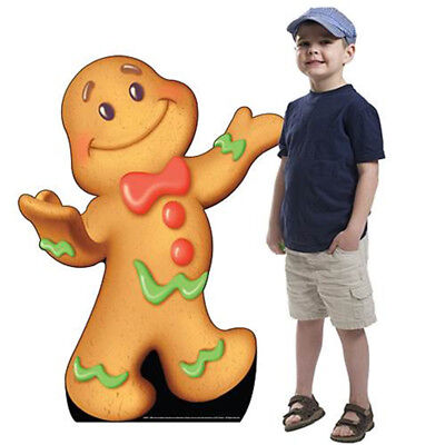 GINGERBREAD BOY JIB Candy Land CARDBOARD CUTOUT Standee Standup Poster FREE SHIP