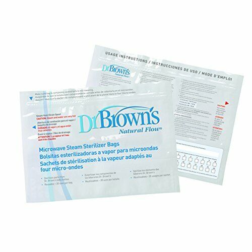 DR. BROWNS MICROWAVE STEAM STERILIZER 4 BOTTLES NATURAL FLOW
