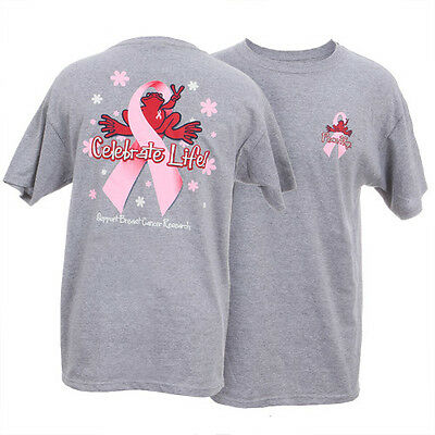 PEACE FROGS BREAST CANCER CELEBRATE LIFE X-LARGE ADULT T-SHIRT