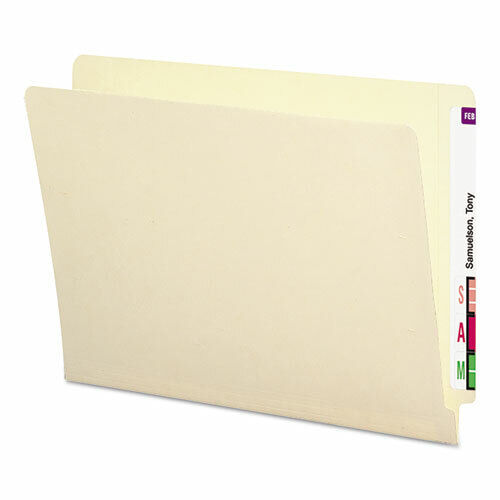 Smead 24113 - Letter Size End Tab Folders  - Straight Tab - 100 Count Box