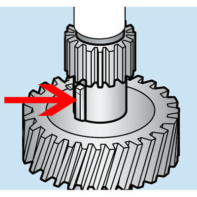 Key For Worm Wheel Shaft For Hobart Mixers A120 A200 Oem 12430-4