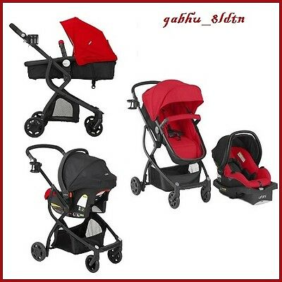 Baby Stroller Car Seat 3in1 Travel System Infant Carriage Buggy Bassinet RED NEW