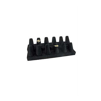 Ring Display 12 Finger In Black Velvet 8.25 W X 3.25 D X 2.5 H Inches