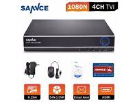 Sannce 4Channel 5in1 DVR AHD IP TVI CVI HD