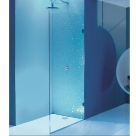 Simpsons TEN 1000mm Single Fixed Panel (10mm Thick Glass) With Easy Clean Glass