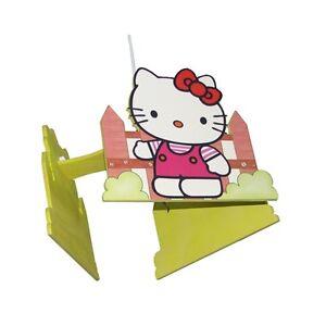 Dettagli su Lampadario in legno Hello Kitty Culla del Bimbo