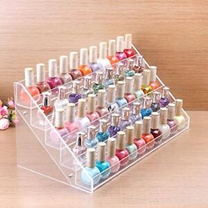 Cq acrylic 72 Bottles of 5 Layers Nail Polish Rack-Clear Nail Po