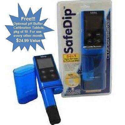 SOLAXX SAFE DIP DIGITAL POOL & SPA WATER SafeDip SALT TESTER w/Free Calib Tabs