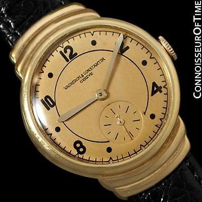 1930's VACHERON& CONSTANTIN Vintage Mens Midsize Art Deco Watch, 18K Gold