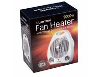 Lloytron Electric Fan Heater 2000w - 2 Heat Settings & Cool Blow Mode *POST or COLLECT* NEW & Boxed