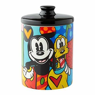 Enesco Disney by Britto Mickey Mouse and Pluto Cookie Jar Canister, 6 Inch, Mul