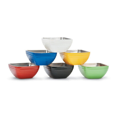 Vollrath 4659060 Colored Insulated Serving Bowl, Round, 1-11/16 Qt., Black