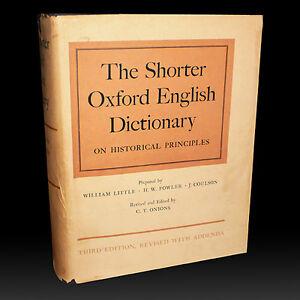 THE SHORTER OXFORD ENGLISH DICTIONARY ON HISTORICAL PRINCIPLES City of Toronto Toronto (GTA) image 1