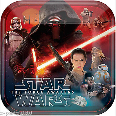 STAR WARS Force Awakens LARGE PAPER PLATES (8) ~ Birthday Party Supplies Dinner - Star Wars Party Plates