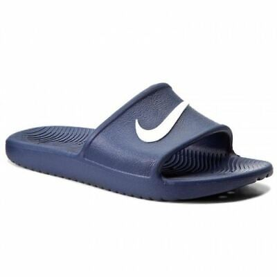 Nike Mens Kawa Shower Flip Flops Sliders Sandals Navy