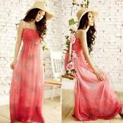 Maxi Chiffon Dress Halter