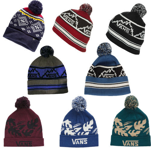 ffe315ec34 Vans Graphic Fold U It s A Bobble Mount Pompom Mens Womens Beanies ...
