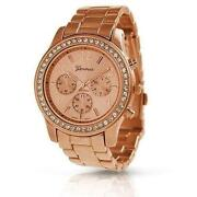 Geneva Rose Gold Boyfriend Watch