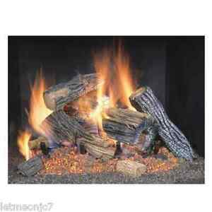 Natural Gas Logs Wood Burning Fire Place Fireplace