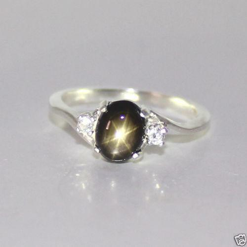 Black Star Sapphire Ring Ebay