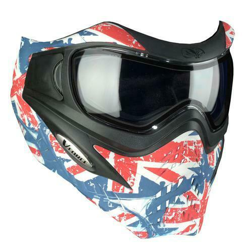 NEW/NIB VForce Paintball Grill Protective Mask - Union Jack - Red/White/Blue