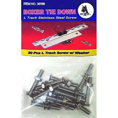L Track Stainless Steel Screws 10 Pack For Cargo Hold Down Bar