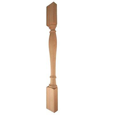 One Pair-2- Split Posts- 35-14 Tall-turned Half Wood Post