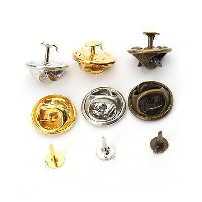 50sets/lot Copper Gold/Silver Brooch Base Holder Pins Brooch Badge Holder ()