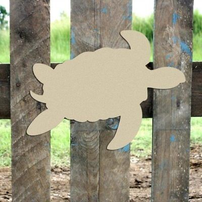 Wooden Sea Turtle Shape, Unfinished Shape, Wood Cutout, Wooden Paintable Craft