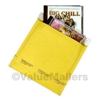 Cd 7.25 X 8 Kraft Bubble Lite Mailers Cd Dvd Padded Envelopes Bags 250 To 2500
