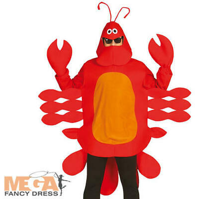 Red Lobster Adults Fancy Dress Sea Animal Creature Mens Ladies Novelty Costume